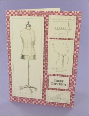 C6 Dressmaking card