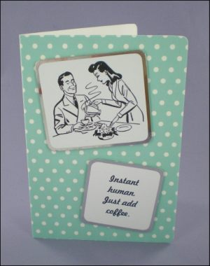 Coffee Couple 50s Style Card