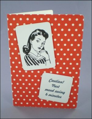 Mischief Lady 50s Style Card