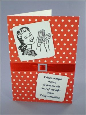 Money Lady 50s Style Card