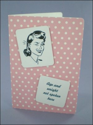 Winking Lady 50s Style Card