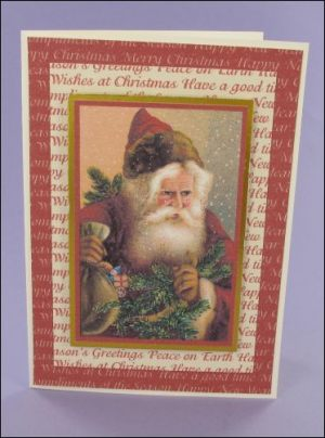 Lovely Santa Christmas card