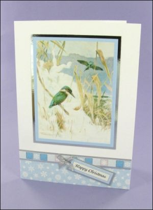 Kingfisher in the Snow Christmas card