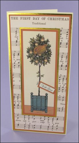 Partridge in a Pear Tree Music card