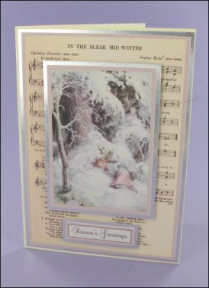 Girl in Snow Music card