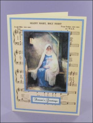Mary with baby Music card