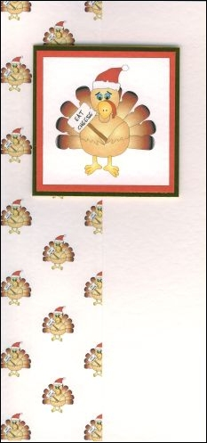Christmas turkey card