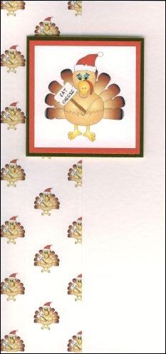 Christmas turkey card