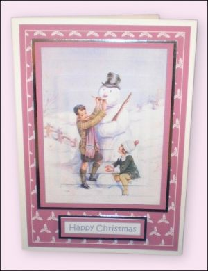 Snowman Large Pyramage card