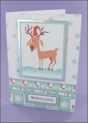 Reindog Christmas card