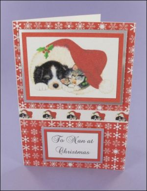 Cute Christmas Pets card