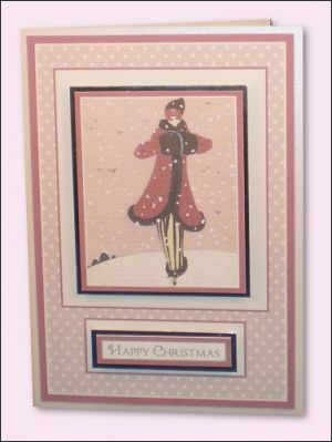 Fashion Lady in Snow card