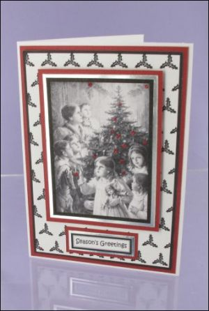 Mono Christmas Group with Sparkle card
