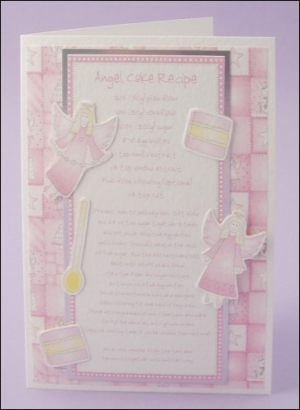 Angel cake card