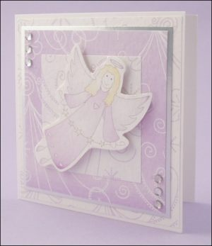Violet angel card