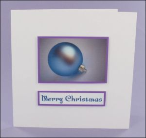 Frosted Bauble Photo Motif Card