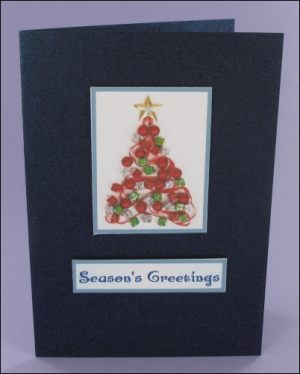 Christmas Tree Photo Motif Card