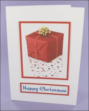 Large Present Photo Motif Card
