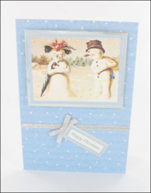 Snowman Couple card