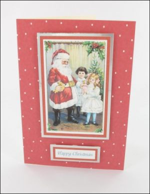 Santa with Girl card