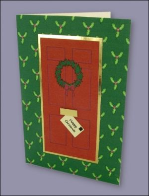 Christmas Front Door card