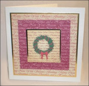 Vintage wreath card