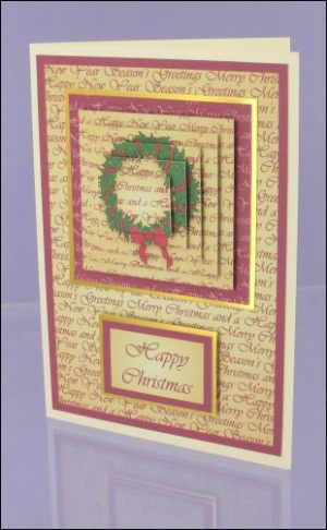 Vintage Wreath Pyramage card