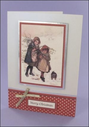 Collecting Mistletoe Christmas card