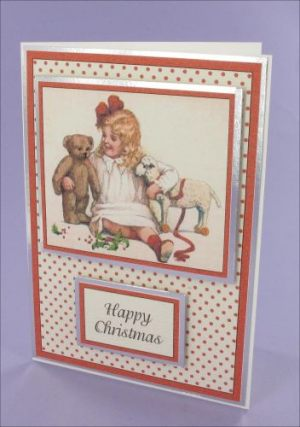 Girl with Toys Christmas card