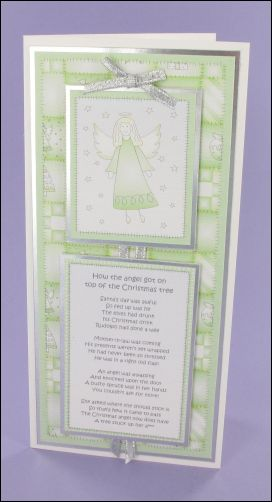 Pistachio Angel Poem card