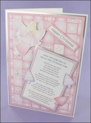 Raspberry Angel Poem Card