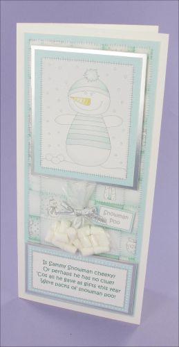 Snowman Poo card