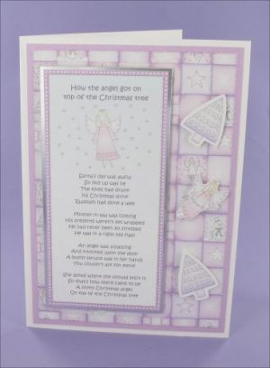 Violet Angel Poem card