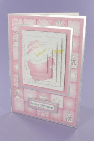 Raspberry SnowMum Pyramage card