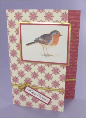 Victorian Robin card