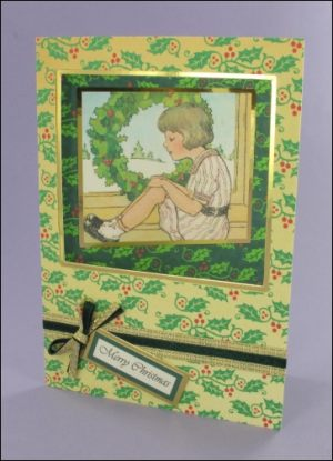 Girl with Wreath card