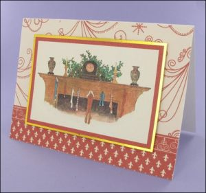 Christmas Fireplace card