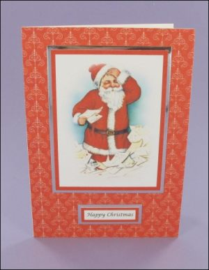 Santa with Letters card