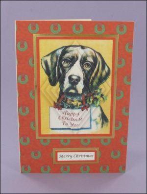 Dog Happy Christmas Pyramage card