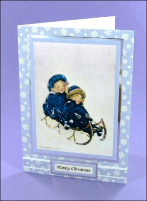 JWS Sleigh Cherubs card