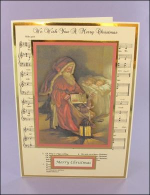 Old Father Christmas Decoupage card