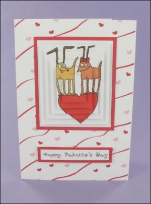 Valentine's Funky Dogs Pyramage card