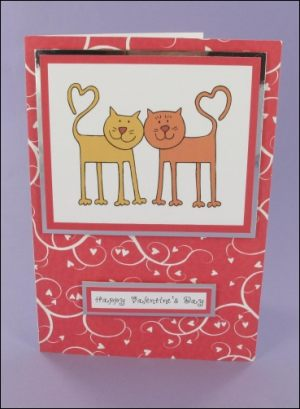 Valentine's Cats card