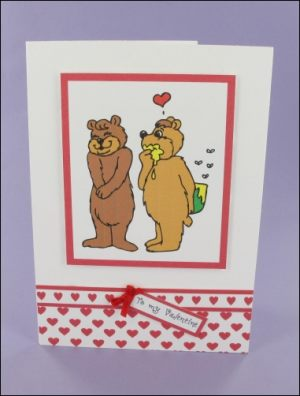 Honey Bears Valentine's card