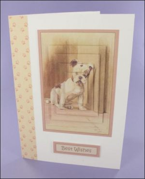 Our Friend the Dog large pyramage card