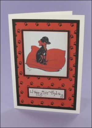 Puppy Pillow card