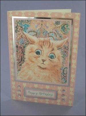 Cat-atonic birthday card