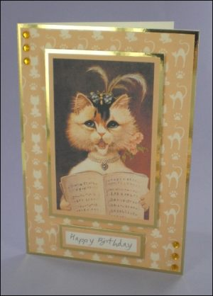 Mews-ical Cat card
