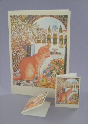 Purr-gola Cat Notecard & Tags