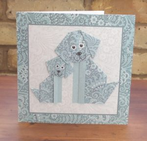 Origami Dogs Teal